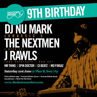 The Doctor's Orders 9th Birthday Mix by Spin Doctor