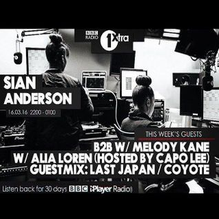 Back 2 Back with Sian Anderson on BBC1Xtra 16th March 2016