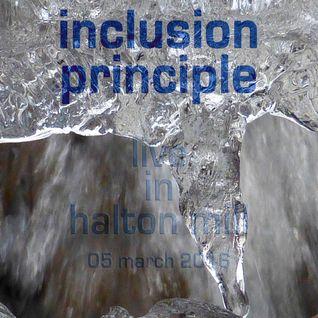 Inclusion Principle live in Halton Mill