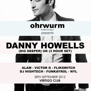 Ohrwurm feat. Victor G & Alam (warmup for Danny Howells) @ Vertigo KL - 28 Sep 2012