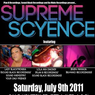Lola aka Dakini9 live at Supreme Scyence