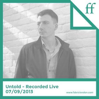 Untold - Recorded Live 07/09/2013