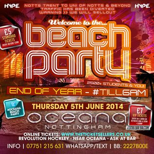 #OCEANAbeachPARTY   DJ DOC X   HIP HOP   Thurs 5th June 2014   Oceana Superclub   Nottingham