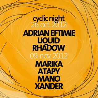 Xander at Cyclic Night @ Kasho Club Brasov (live recording 09.11.2012)