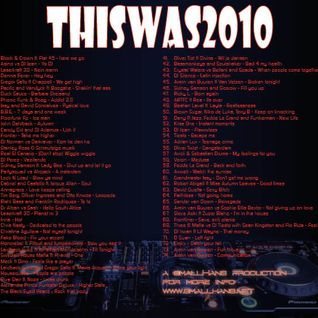 ThisWas2010, smallHans' view of dance in 2010
