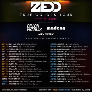 Zedd - Live @ Bill Graham Auditorium, San Francisco (True Colors Tour) - 17.09.2015