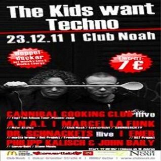 Scheich & Schabernack @ THE KIDS WANT TECHNO - Atrium / Club Noah Gotha - 23.12.2011