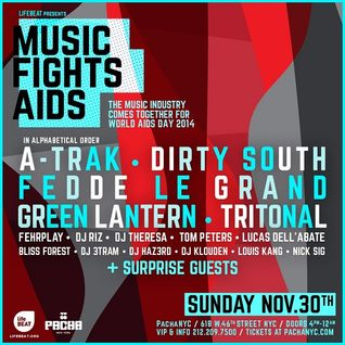 Dirty South - Live @ Pacha NYC, Music Fights AIDS (New York) - 30.11.2014