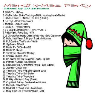 Mardi X-Mas Party 2015 Special mixed by DJ Shyheim