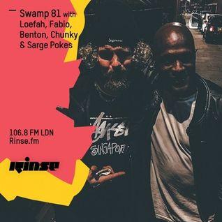 Loefah b2b Fabio b2b Benton @ Swamp '81 Show, Rinse.fm 106.8 FM - London (05.05.2016)