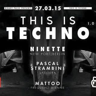 Pascal Strambini @ This Is Techno 27.03.2015