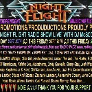 The Night Flight Radio Show of 26th September 2014