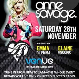 Live from Venue Kildare On Retro Electro Radio Ear Candy Presents Anne Savage,Emma Dilemma, Laynee