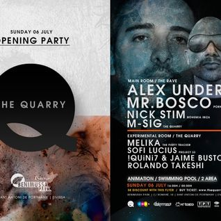 Alex Under @ The Quarry Ibiza Opening Party - Benimussa Park (06.07.2014)