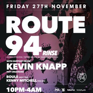 Kenny Mitchell / Live Dj Set HALO SESSIONS w Kevin Knapp & Route 94