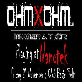OhmXohM Djz : Mario Corleone VS Tim Xtorre @ NANOTEK Party : 21 Nov. 2014 - GROOVY TRAX N°13 -
