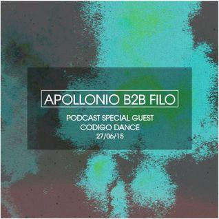 APOLLONIO B2B FILO @ CODIGO DANCE//RADIO RAWSON//CHUBUT (27-06-2015)