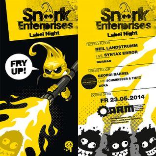 Neil Landstrumm @ Snork Enterprises Label Night - ARM Kassel - 23.05.2014