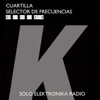 Selector de Frecuencias 02 con DJ CUARTILLA (27 Ene 2016)