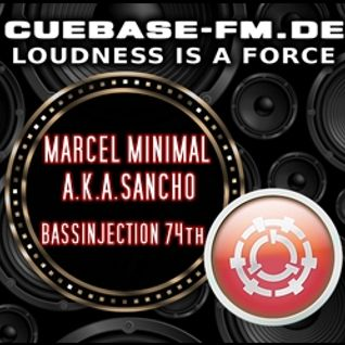 MARCEL MINIMAL A.K.A.SANCHO - BASSINJECTION 74th - Podcast - Cuebase.fm - 2015