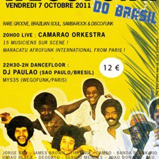 Le son de la soirée Wegofunk do Brasil ! Le 7 octobre 2011 à Petit Bain, concert + dj !