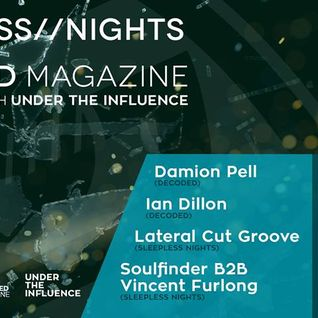 Ian Dillon @ sleepless nights under the infuence invites Decoded Magazine Sweeneys Dublin 18th March