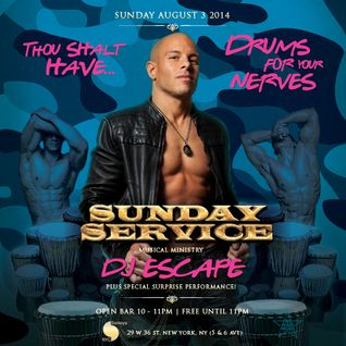DJ Escape @ Sunday Service Drums For Your Nerves 8-1-14 PART 2