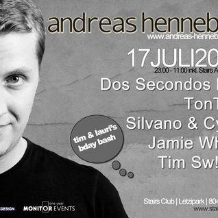 Andreas Henneberg @ Stairs Club Zürich