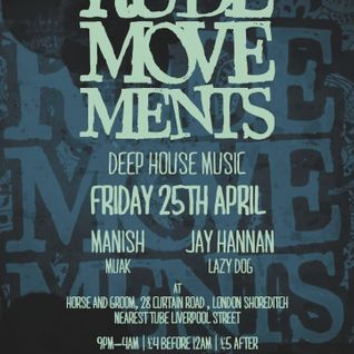 Rude Movements residents live mix/ Rude Movements Fri 25th April