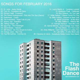 SONGS FOR FEBRUARY 2016