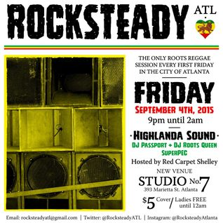 ROCKSTEADY ATL (9/4/15) PROMO CD mixed by HIGHLANDA Sound
