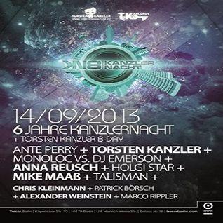 Mike Maass @ 6 Jahre Kanzlernacht - Tresor Berlin - 14.09.2013
