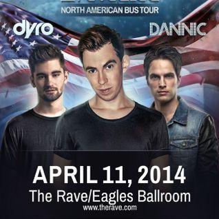 Hitmen Opening For Hardwell, Dyro, Dannic @ Eagles Ballroom, MKE (4-11-14)