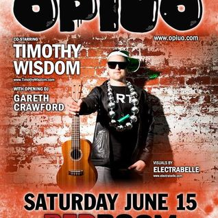 Gareth Crawford LIVE at #REDROOM8YR opening for Opiuo and Timothy Wisdom