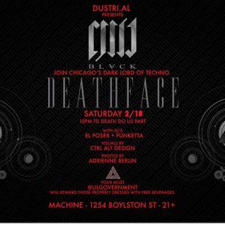 Punketta Doilie set for Deathface show 2.18.12