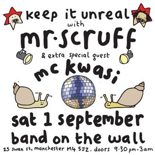 Mr Scruff DJ mix from Keep It Unreal with MC Kwasi, Band On The Wall, Sat September 1st 2012