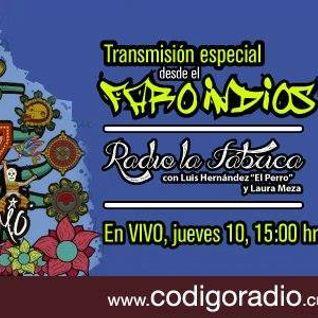 Radio la Fábrica programa transmitido en vivo desde el FARO Indios Verdes el día 10 de Noviembre