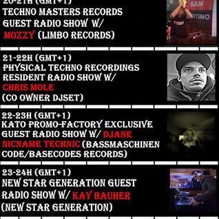 KATO PrOmO-Factory Excl. Guest Radio Show w/DJane Nicname Technic (BASSmaschinenCODE/Basecodes Rec)