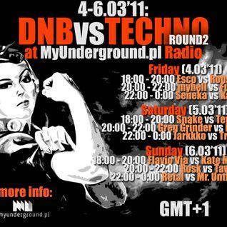 DNBvsTECHNO ROUND2 @ MyUnderground.pl Radio (6.3'11)