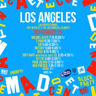 Major Lazer - live at Mad Decent Block Party 2015, Los Angeles (Day 1) - 19-Sep-2015