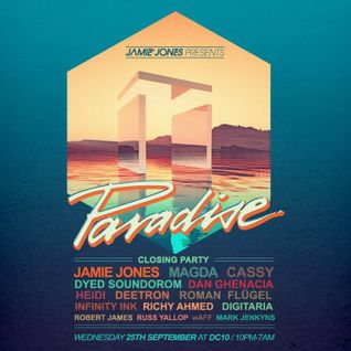 Jamie Jones - Live @ Paradise Closing Party, DC10 - 25.09.2013