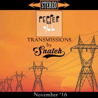 Transmissions @ Pepper 96.6 (November '16) by DJ Snatch