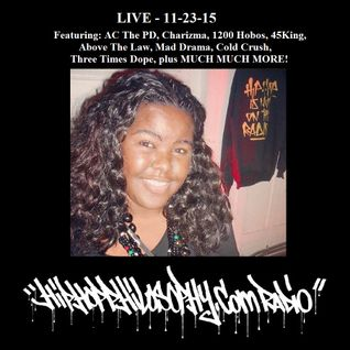 HipHopPhilosophy.com Radio - LIVE - 11-23-15 - Cassandra William Episode #3