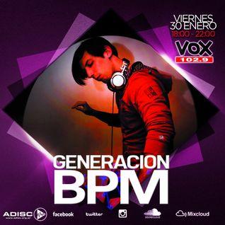 DJ Golan @ Generacion BPM [Radio VOX FM 102.9] (30-01-2015)