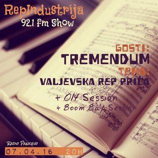 RepIndustrija Show 92.1 fm / br. 45 Tema: Valjevska rep priča Gosti: Tremendum +014Session+NYBap