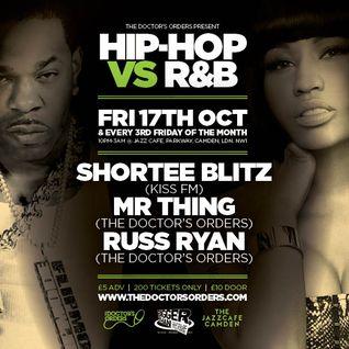 "Hip-Hop vs R&B 'The Remixes"" Mixed by Russ Ryan"