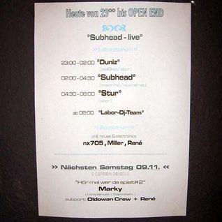 Subhead (Live PA) @ Kopfunter - Labor Club Osnabrück - 02.11.2002