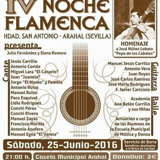 Arahal al día Magacín: Entrevista sobre la 4ª noche flamenca de San Antonio.