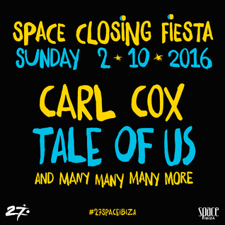Solomun @ Space Closing Fiesta (Terraza) - 02 October 2016