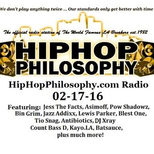 HipHop Philosophy Radio - LIVE - 02-17-16